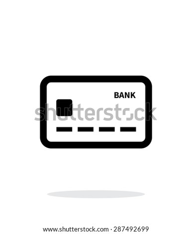 Debit card icon on white background. - stock photo