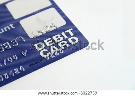 Debit card isolated on a white background - stock photo
