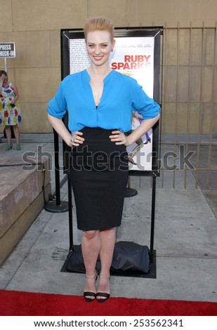 "Deborah Ann Woll at the Los Angeles premiere of ""Ruby Sparks"" held at the Egyptian Theatre in Los Angeles, California, United States on July 19, 2012."