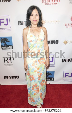 Deborah Ramaglia attends  In Vino - Premiere at The Writers Guild Theater on July 27th 2017 in Beverly Hills, California