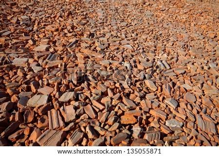 Debris of destroyed bricks - stock photo
