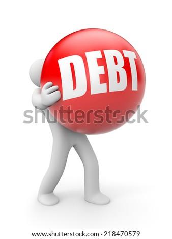 Debt - stock photo