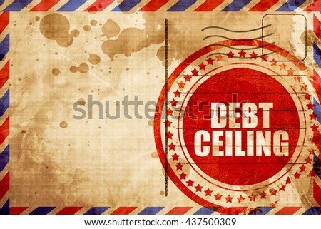 debt ceiling - stock photo