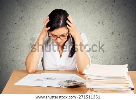 Debt, Tax, Tax Form. - stock photo