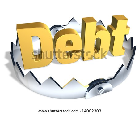 DEBT TRAP - stock photo