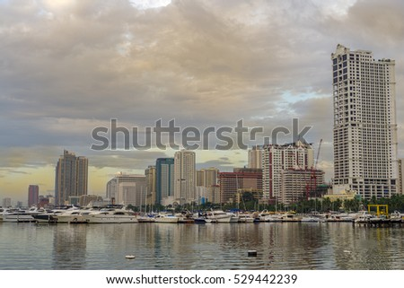 Dec 2,2016 Manila Bay at Harbor Square , Manila , Philippines