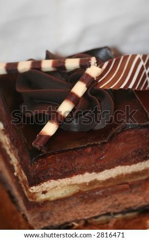 Decadent Chocolate Cake - stock photo