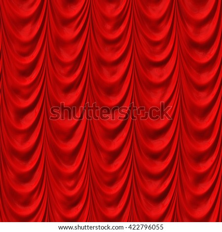 Decadent drapery/Curtain texture background (Tiles seamless, High-resolution 3D CG rendering illustration) - stock photo