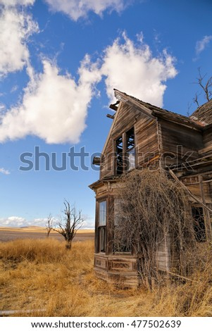 Decayed Old Abandoned Farmhouse
