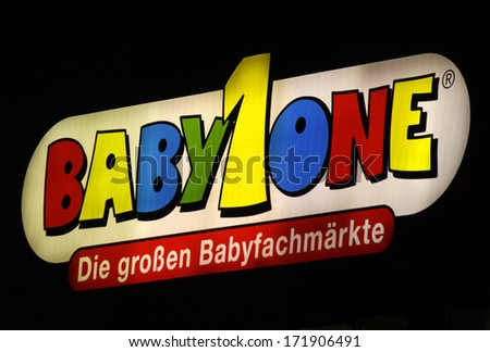 "DECEMBER 2013 - BERLIN: the logo of the brand ""Baby1One"", Berlin."