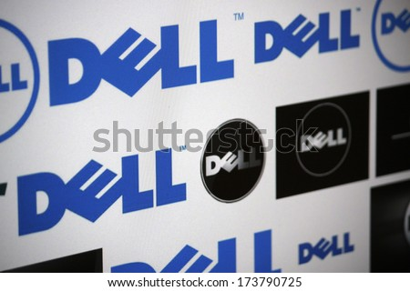 "DECEMBER 2013 - BERLIN: the logo of the brand ""Dell""."