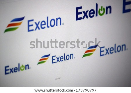 December 2013 Berlin Logo Brand Exelon Stock Photo Royalty Free