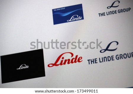 "DECEMBER 2013 - BERLIN: the logo of the brand ""Linde"", Berlin."