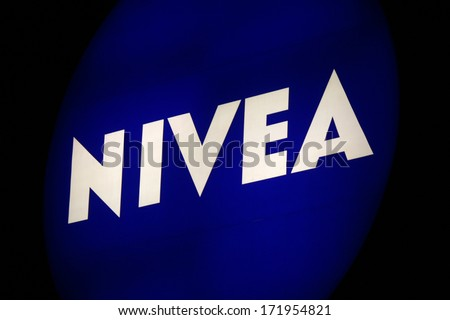 "DECEMBER 2013 - BERLIN: the logo of the brand ""Nivea"", Berlin."
