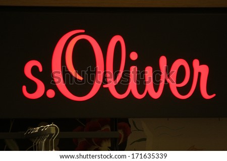 "DECEMBER 2013 - BERLIN: the logo of the brand ""s.Oliver"", Berlin."