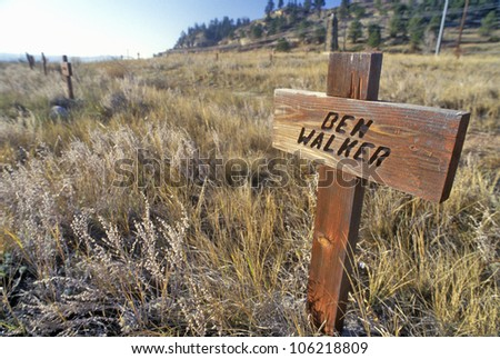 DECEMBER 2004 - Boot Hill Cemetery, Billings, MT - stock photo