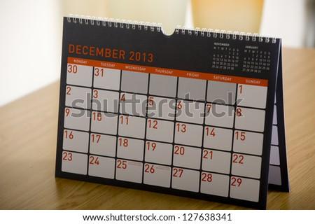 December 2013 calendar - stock photo