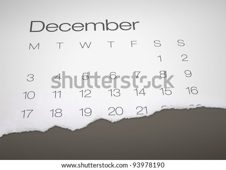 December 21 - end of the world - stock photo
