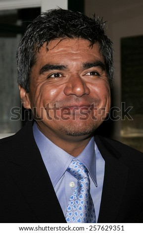 December 1, 2005. George Lopez attends the Wolrd Premiere of Aeon Flux at the Cinerama Dome in Hollywood, California United States.  - stock photo