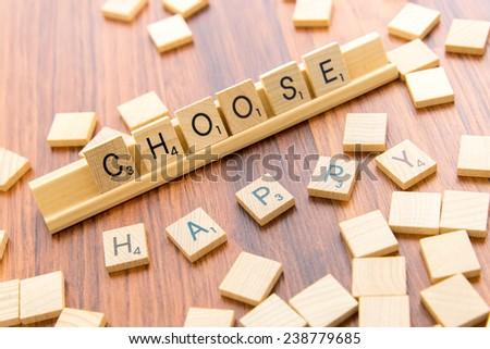 december 14 houston tx usa scrabble tiles spelling choose happy