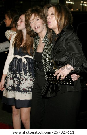 "December 6, 2006. Jane Fonda and Paula Weinstein attend the Los Angeles Premiere of ""Blood Diamond"" held at the Grauman's Chinese Theatre in Hollywood, California United States. - stock photo"