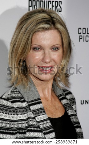 December 12, 2005. Olivia Newton John attends the Producers World Premiere at the Westfield AMC Theatres in Century City, California United States.