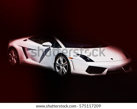 December 2, 2016, Poltava, Ukraine; Abstract Photo Lamborghini Into The  Spotlight.