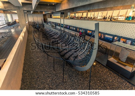 December 04, 2016: Treasure of the Viking Ship Museum of Roskilde, Denmark