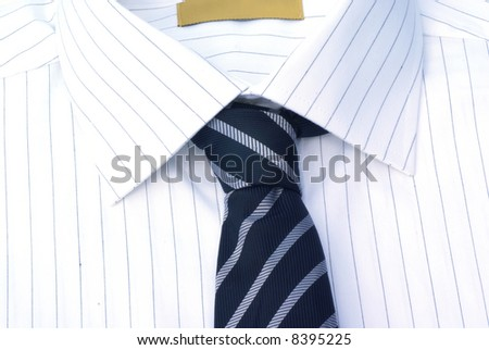 Decent shirt with tie close up.