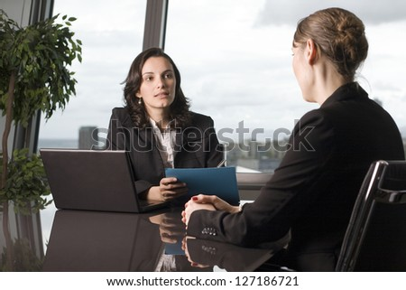 Deciding about scholarship - stock photo
