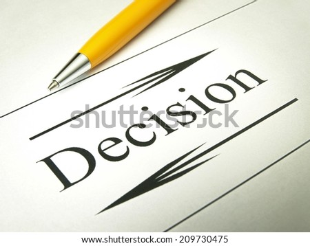 Decision concepts - stock photo
