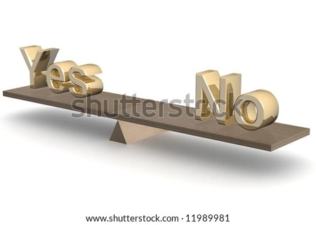Decision-making. 3D image. The isolated illustration. - stock photo