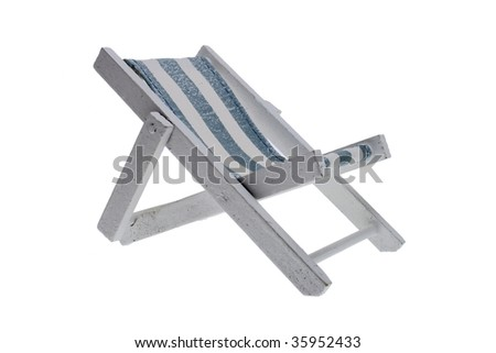 Deck chair isolated on a white background