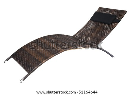 deck chair isolated on white background - stock photo