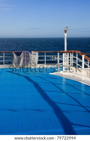 Deck of a cruise liner