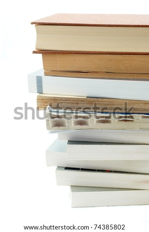 deck of books isolated on white