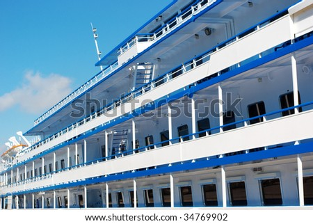 Deck of liner. Element of design. - stock photo