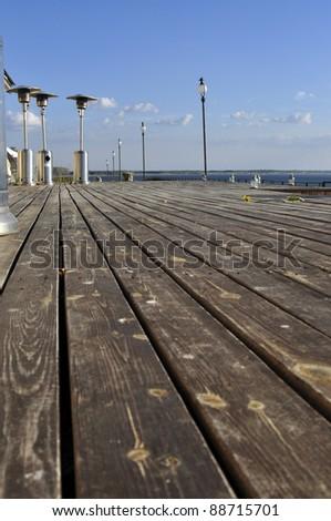 decking - stock photo