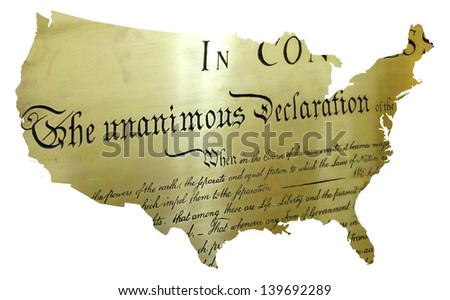 declaration of independence begins the birth of the USA - stock photo