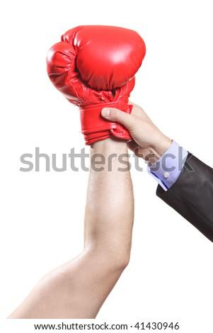 Declaring winner - stock photo