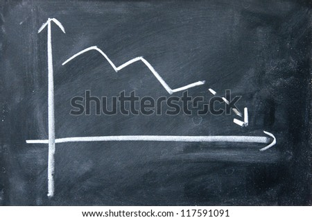decline chart - stock photo