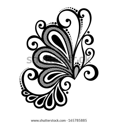 Beautiful decorative flower leaves vector patterned stock for Element deco design