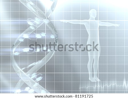 Decoding the genome - stock photo