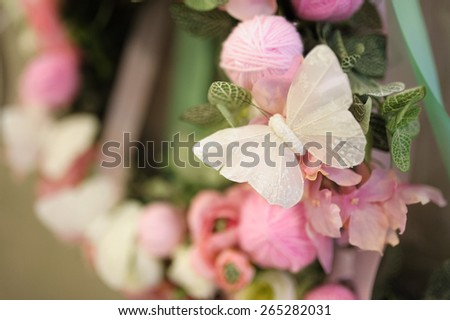 decor at restaurant with all beauty and flowers - stock photo