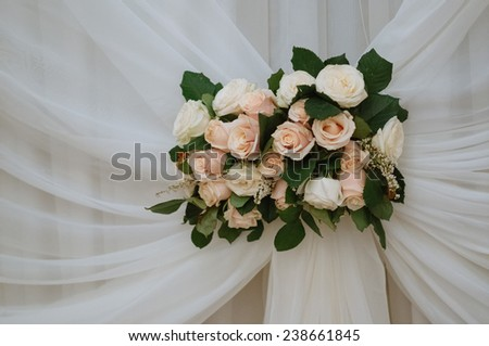 Decorate flowers in the glass - stock photo
