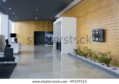 Decorated and modern architecture interior - corporate and luxury concept - stock photo