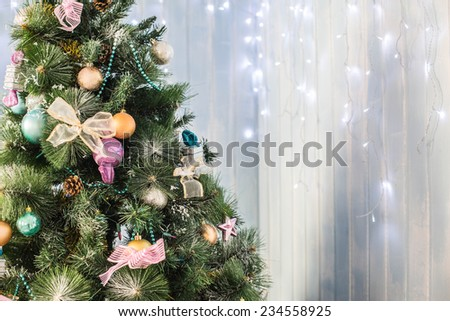 Decorated Christmas  - stock photo