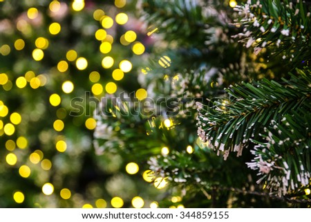 decorated christmas tree with electric light and christmas balls, use as christmas background