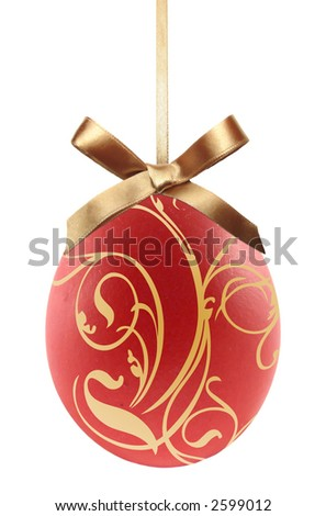 Decorated easter egg - stock photo