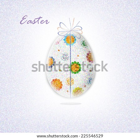 Decorated Egg - stock photo